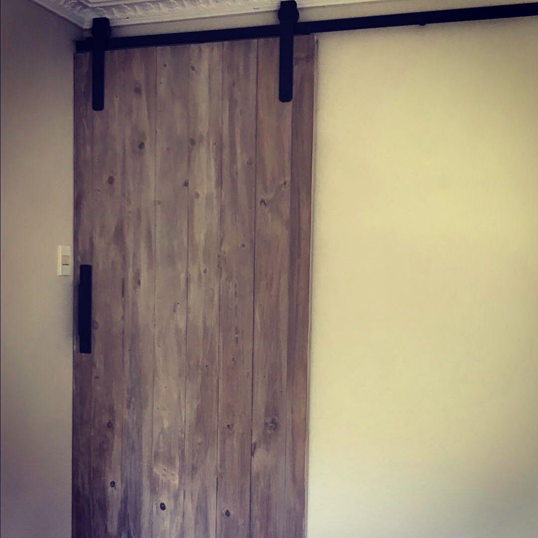 Grey Washed barn door - CLASSIC hangers ~ thebarndoorshack
